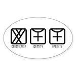 MaleFemale to Female Oval Sticker (10 pk)