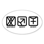 MaleMale to Female Oval Sticker (10 pk)