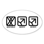 MaleMale to Male Oval Sticker (50 pk)