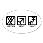 MaleMale to Both Oval Sticker (10 pk)