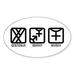 MaleBoth to Female Oval Sticker (50 pk)