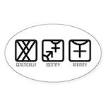 MaleBoth to Female Oval Sticker (10 pk)