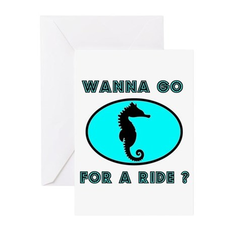 SEAHORSE Greeting Cards (Pk of 10)