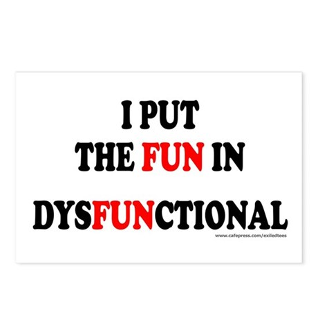 FUN IN DYSFUNCTIONAL Postcards (Package of 8)