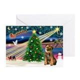 Border terrier christmas Greeting Cards (10 Pack)