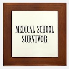 Survived Med School Framed Tile