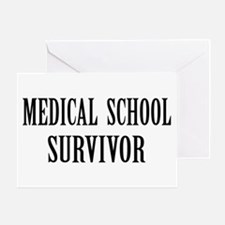 Survived Med School Greeting Card