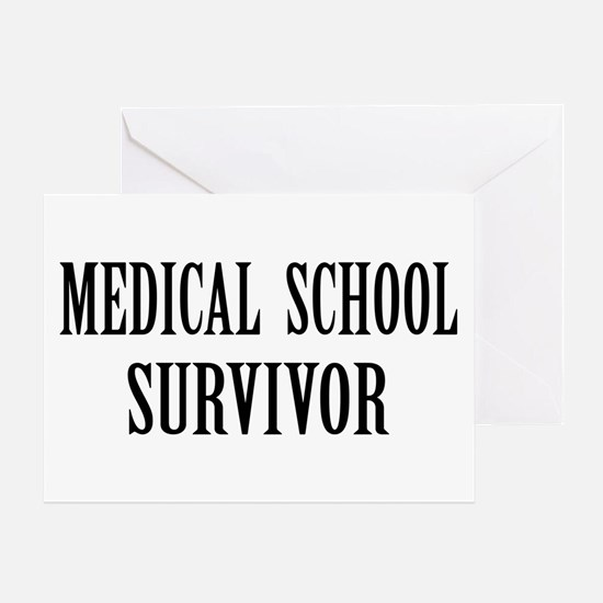 Survived Med School Greeting Card