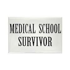 Survived Med School Rectangle Magnet