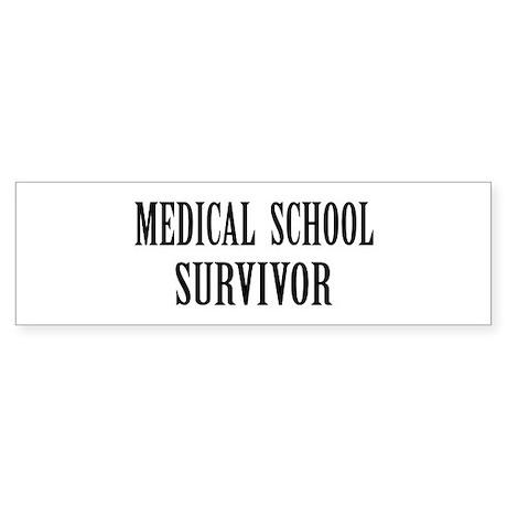 Survived Med School Bumper Sticker