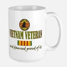 Proud Vietnam Vet USN Ceramic Mugs