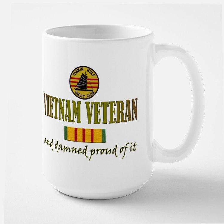 Proud Vietnam Vet USN Ceramic Mugs