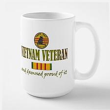 Proud Vietnam Vet USN Large Mug