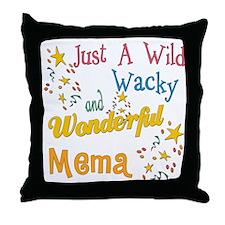 Wild Wacky Mema Throw Pillow