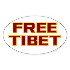 Free Tibet Oval Decal