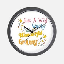 Wild Wacky Granny Wall Clock