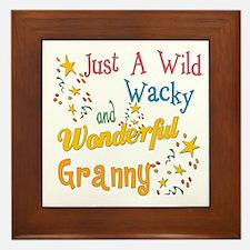Wild Wacky Granny Framed Tile