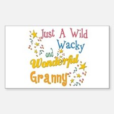 Wild Wacky Granny Rectangle Decal