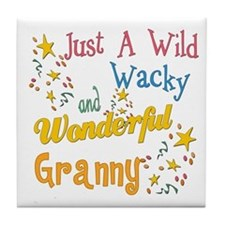 Wild Wacky Granny Tile Coaster