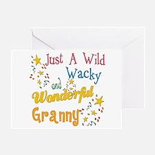 Wild Wacky Granny Greeting Card