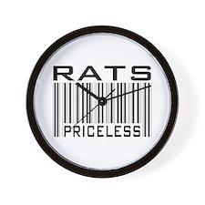 Rats Priceless Bar Code Wall Clock