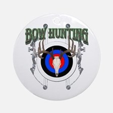 Bow Hunting Ornament (Round)