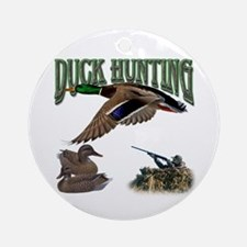 Duck Hunting Ornament (Round)