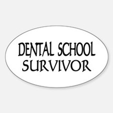 Dental School Graduation Oval Decal