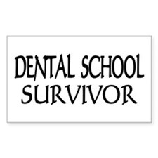 Dental School Graduation Rectangle Decal