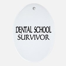Dental School Graduation Oval Ornament