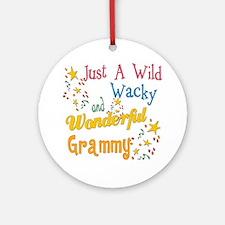 Wild Wacky Grammy Ornament (Round)