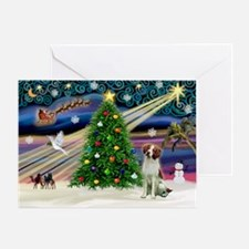 """""""Christmas Magic"""" with a Brittany Sp Greeting Card"""