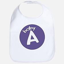 Baby A (purple) Bib