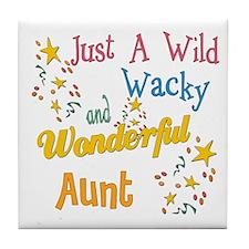 Wild Wacky Aunt Tile Coaster