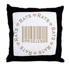 Sweet Rats Priceless Throw Pillow