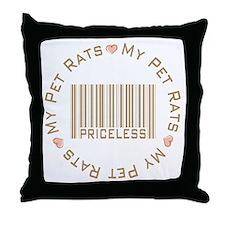 Sweet My Pet Rats Priceless Throw Pillow