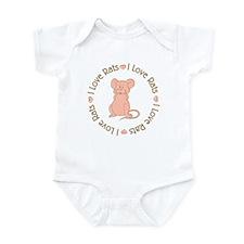 Sweet I Love Heart Rats Infant Bodysuit