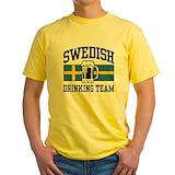 Swedish Mens Yellow T-shirts