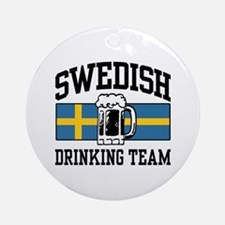 Swedish Drinking Team Ornament (Round)