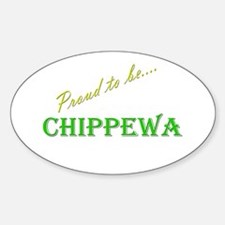 Chippewa Oval Sticker (10 pk)