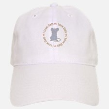 I Love Rats Grey Baseball Baseball Cap
