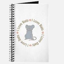 I Love Rats Grey Journal