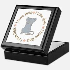 I Love Rats Grey Keepsake Box