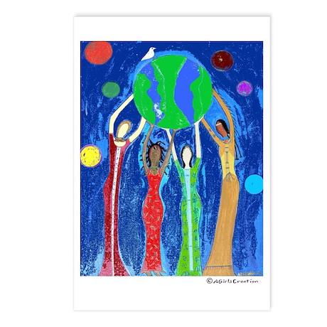 Peace Love Harmony Hope Women Postcards (Package o