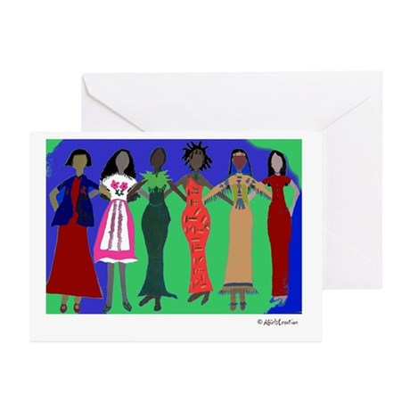 Women in Peace 1 Greeting Cards (Pk of 10)