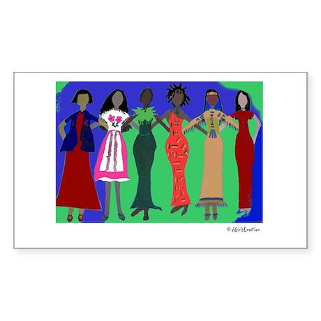 Women in Peace 1 Rectangle Sticker
