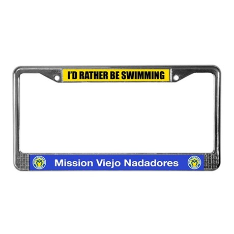 Rather Be Swimming License Plate