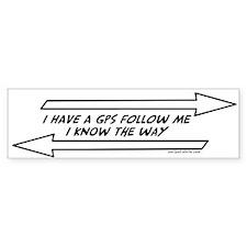 Follow Me Bumper Bumper Sticker