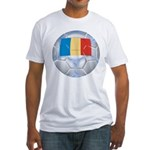 Romania Soccer Fitted T-Shirt