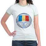 Romania Soccer Jr. Ringer T-Shirt